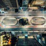 Vista aérea da Praça do Ciclista, próxima às estações de metrô Consolação e Paulista | Club Coworking