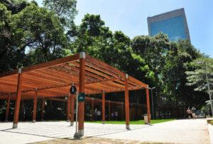 O Parque Prefeito Mario Covas é um dos pontos de respiro na tão movimentada Avenida Paulista