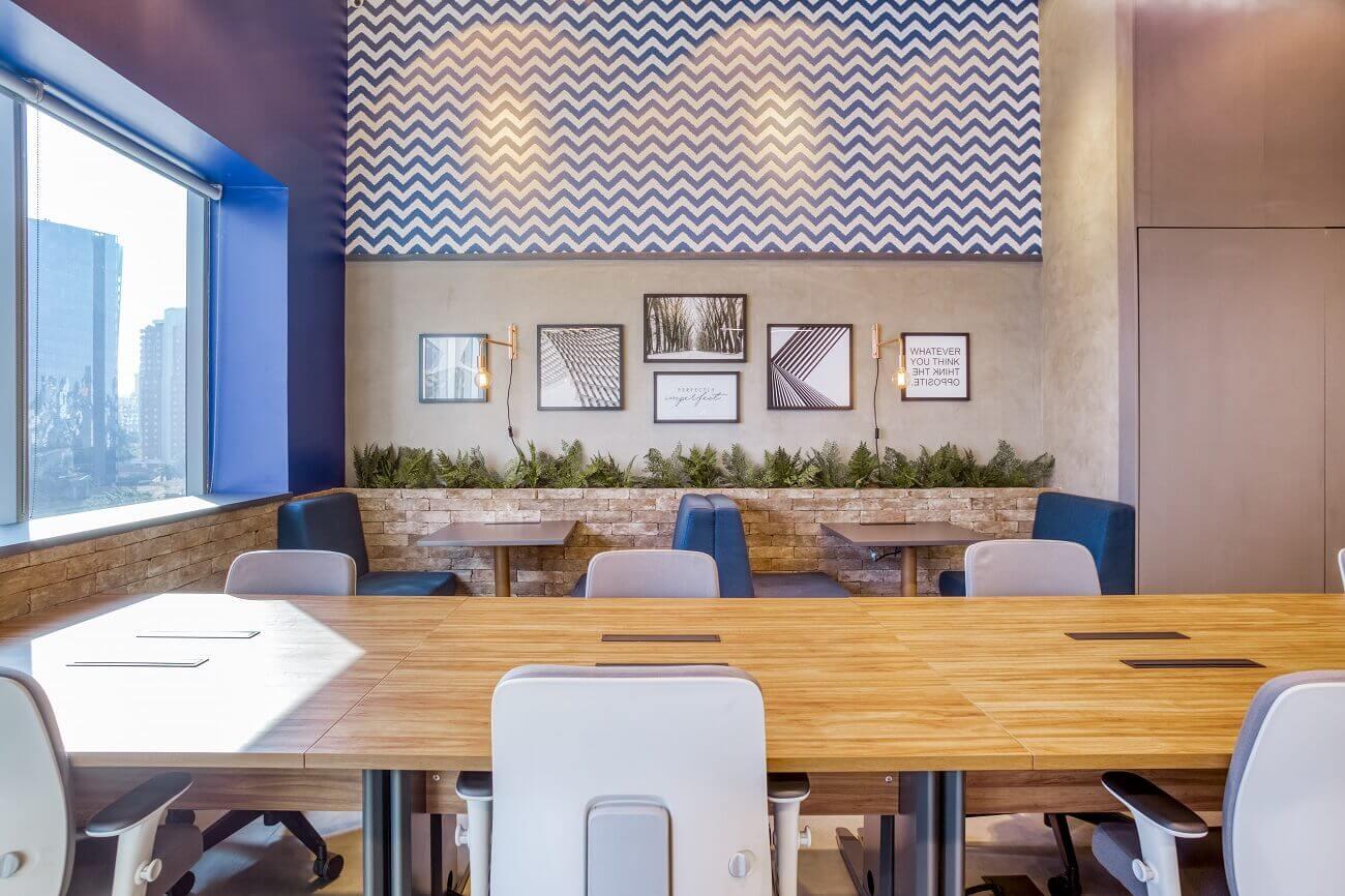 Imagem do espaço do Club Coworking